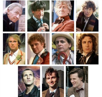 The Doctors from Doctor Who