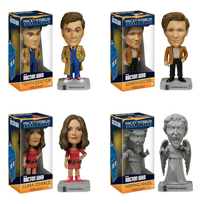 Doctor Who Wacky Wobbler Bobble Heads by Funko - 10th Doctor, 11th Doctor, Clara Oswald & Weeping Angel