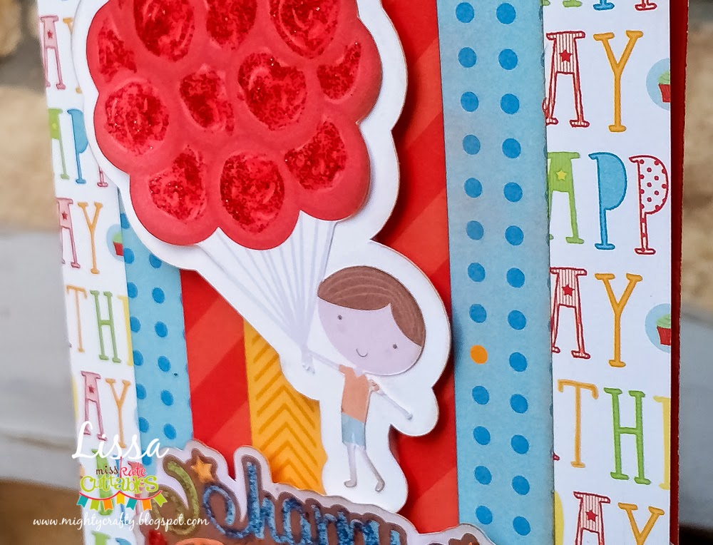 Happy Birthday card for Miss Kate Cuttables -- www.MightyCrafty.me