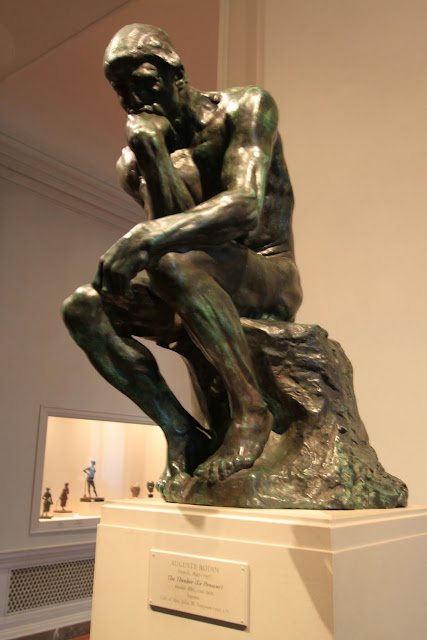 The Thinker statue at National Gallery of Art in Washington DC, USA