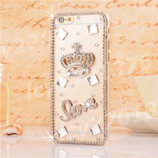 Cute Shine Bling Transparent Clear Crystal Diamond Hard Back Case Cover Skin #11