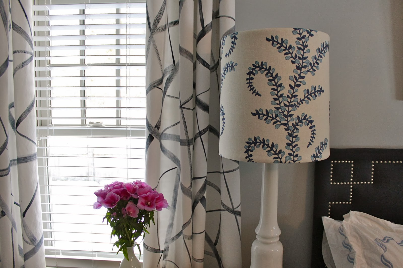 finish geometric porte grey pin in charcoal grommet drapes bella