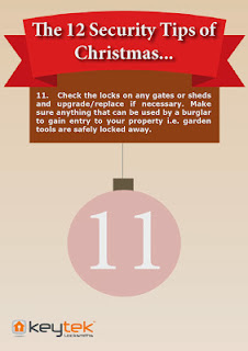 Keytek Locksmiths The 12 Security Tips of Christmas garden shed security
