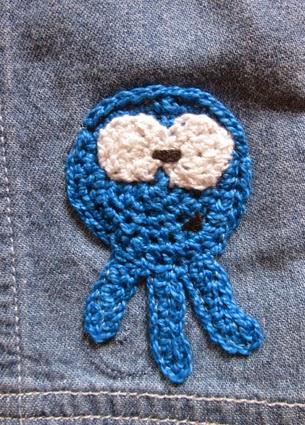Aplicación monstruo de crochet