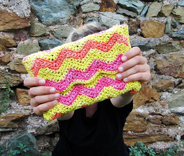 Crochet Ripple Clutch Bag Little Things Blogged