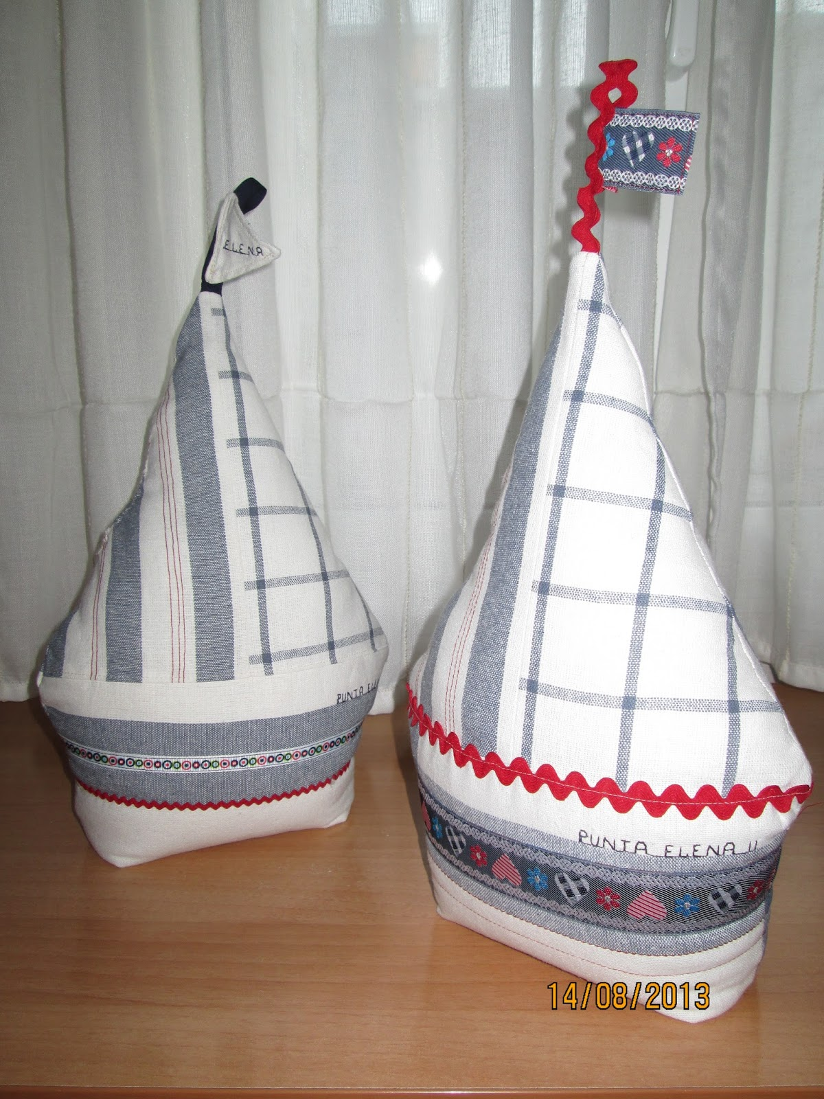Creaciones artisticas nessy veleros sujeta puertas punta for Sujeta puertas de tela