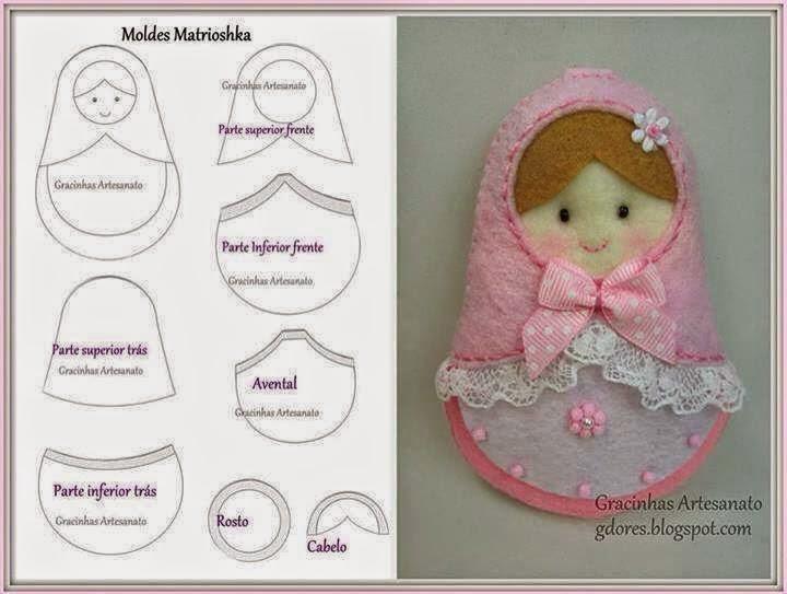 طرح فانتزی عروسک برای نقاشی ARTE COM QUIANE - Paps e Moldes de Artesanato : molde ...