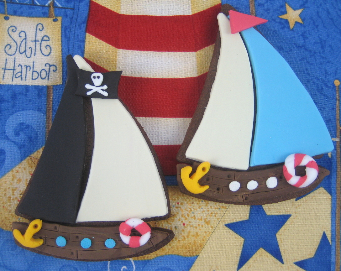 bubble and sweet build a boat sail boat and pirate ship cookies