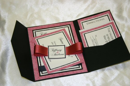 Pocket Fold Invitations  Cards