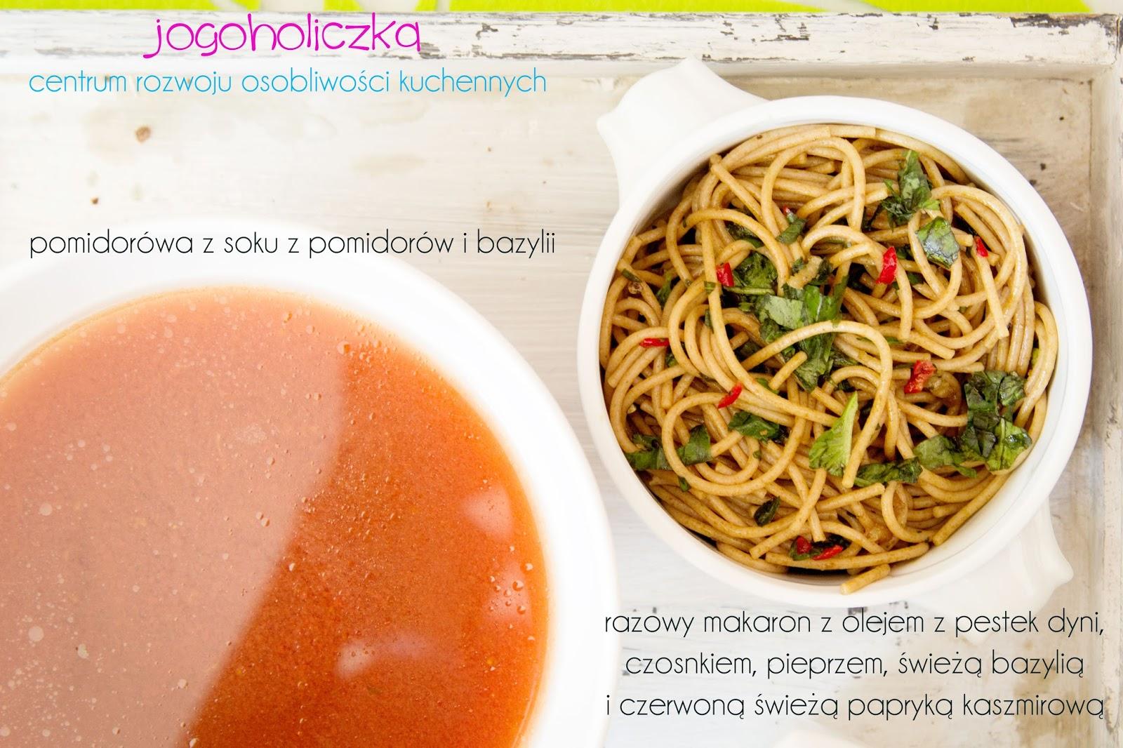 Pomidorówka z soku pomidorowo-bazyliowego