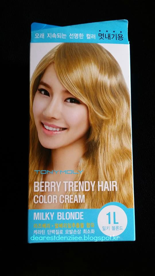 Denziiees Blog Tony Moly Berry Trendy Hair Color Cream In