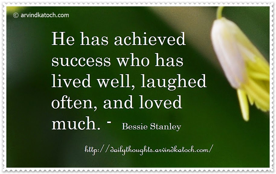 Success, achived, laughed, loved, quote, Thought