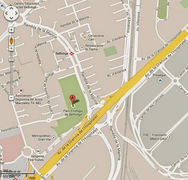 https://www.google.es/maps/place/Parc+Ecol%C3%B2gic+de+Bellvitge/@41.3490326,2.1109792,17z/data=!4m5!1m2!2m1!1sparque+de+Bellvitge,+L%27Hospitalet+de+Llobregat!3m1!1s0x0:0x8cada1ffe773f6b1?hl=es