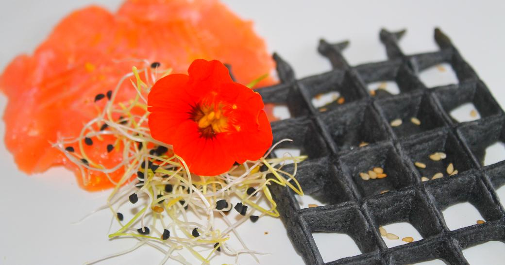 it 39 s easy saumon fum d 39 ecosse gaufre au sarrasin et aux algues. Black Bedroom Furniture Sets. Home Design Ideas