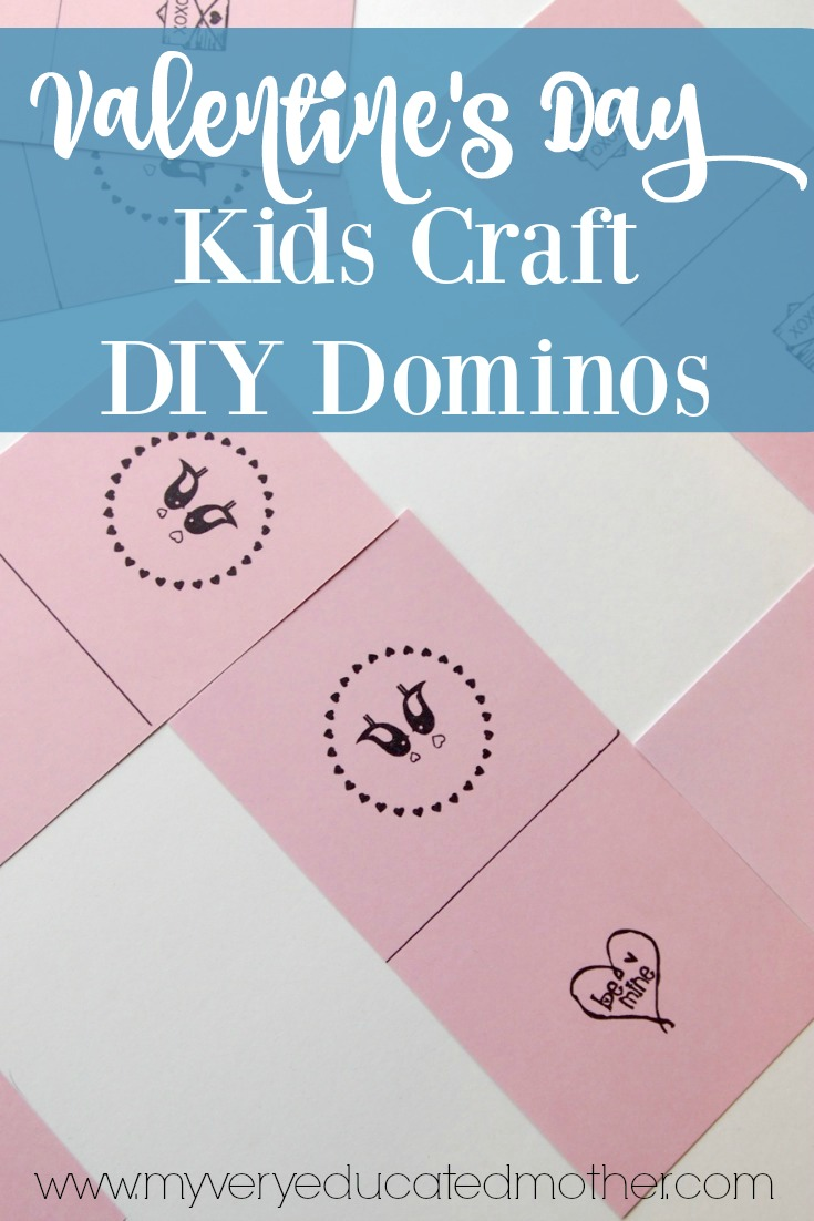 Valentine's Day Kids Craft DIY Dominos