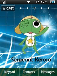 Anime Sergeant Keroro Samsung Corby 2 Theme Wallpaper