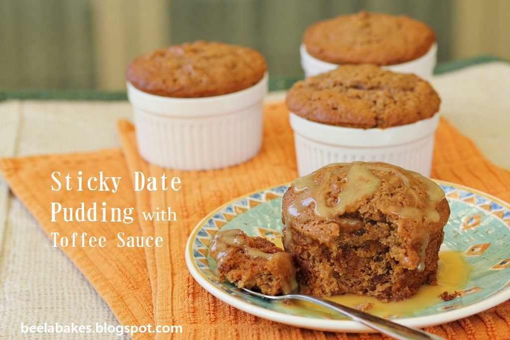 Beela Bakes: Sticky Date Pudding with Toffee Sauce