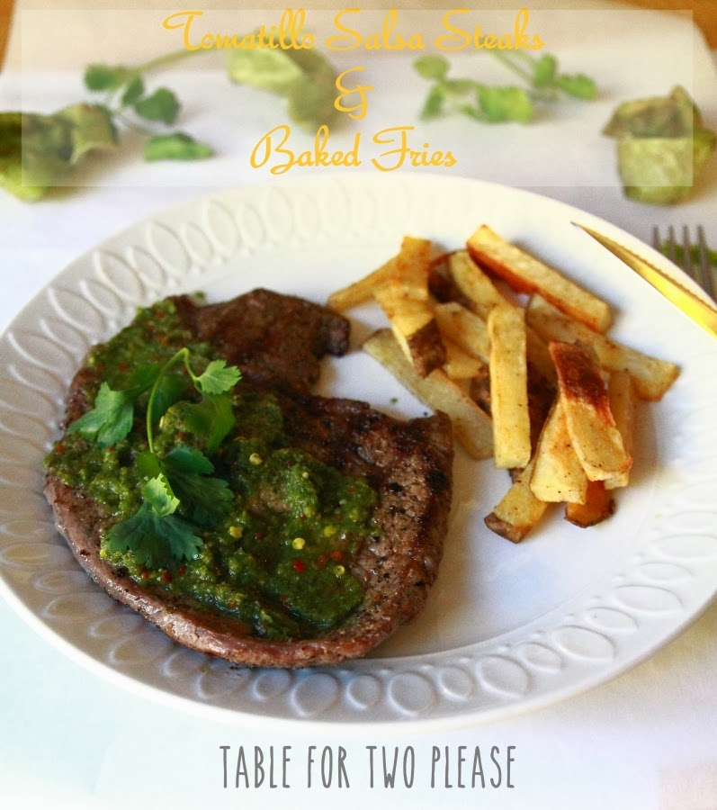 Tomatillo Salsa Steaks