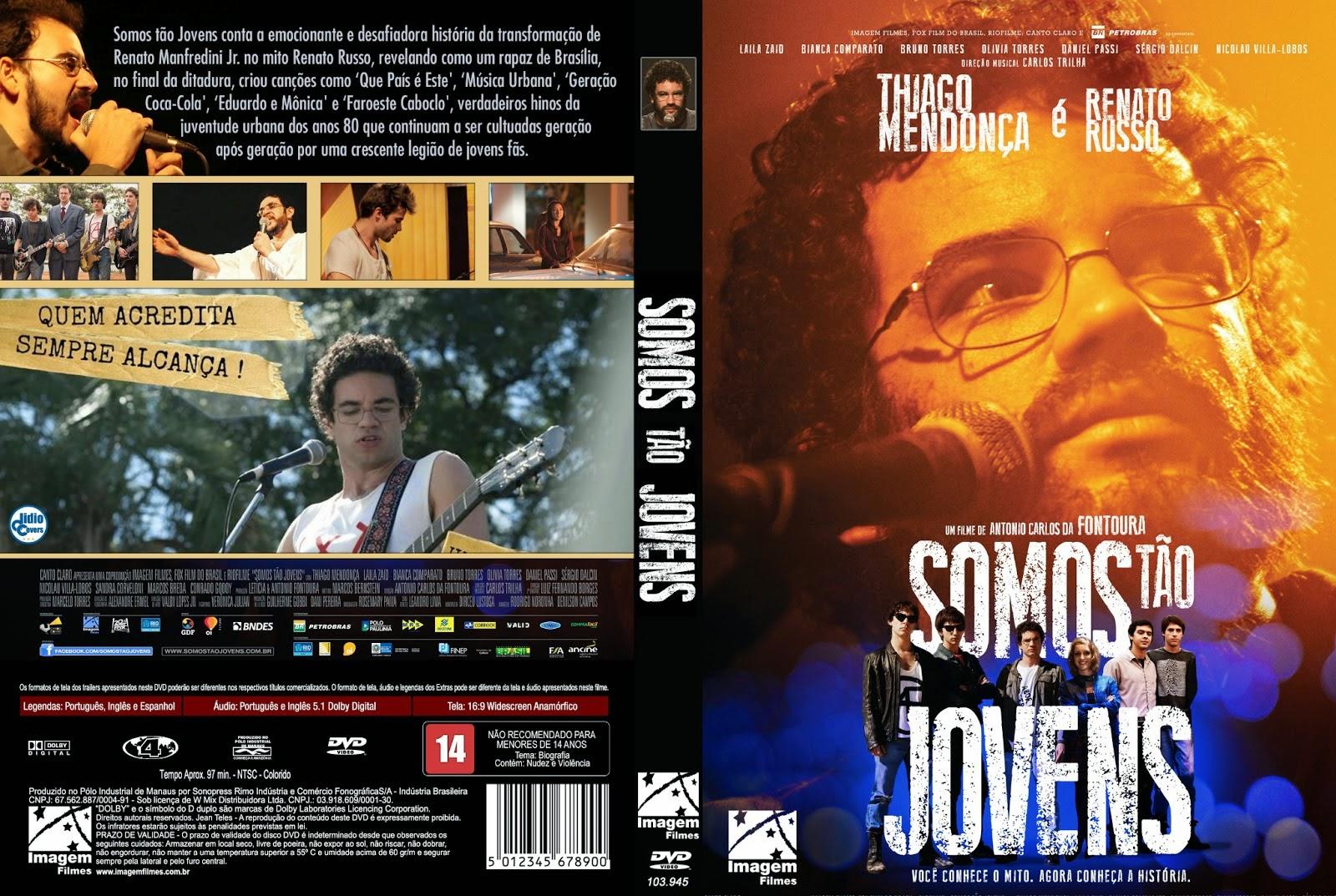 Filme Somos Tão Jovens DVD Capa