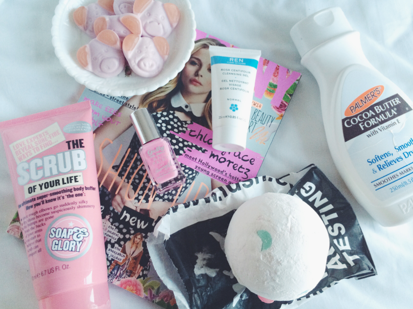 uk beauty blogger, beauty blogger, pamper evening, pamper products, soap and glory, company magazine, lush, review
