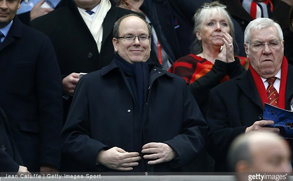 Prince Albert II of Monaco attends the RBS Six Nations rugby match between France and Wales at Stade de France stadium