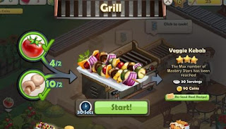 Chefville dish creation screen