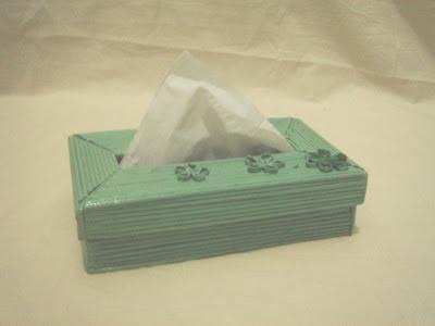 tempat tissue dari kertas koran