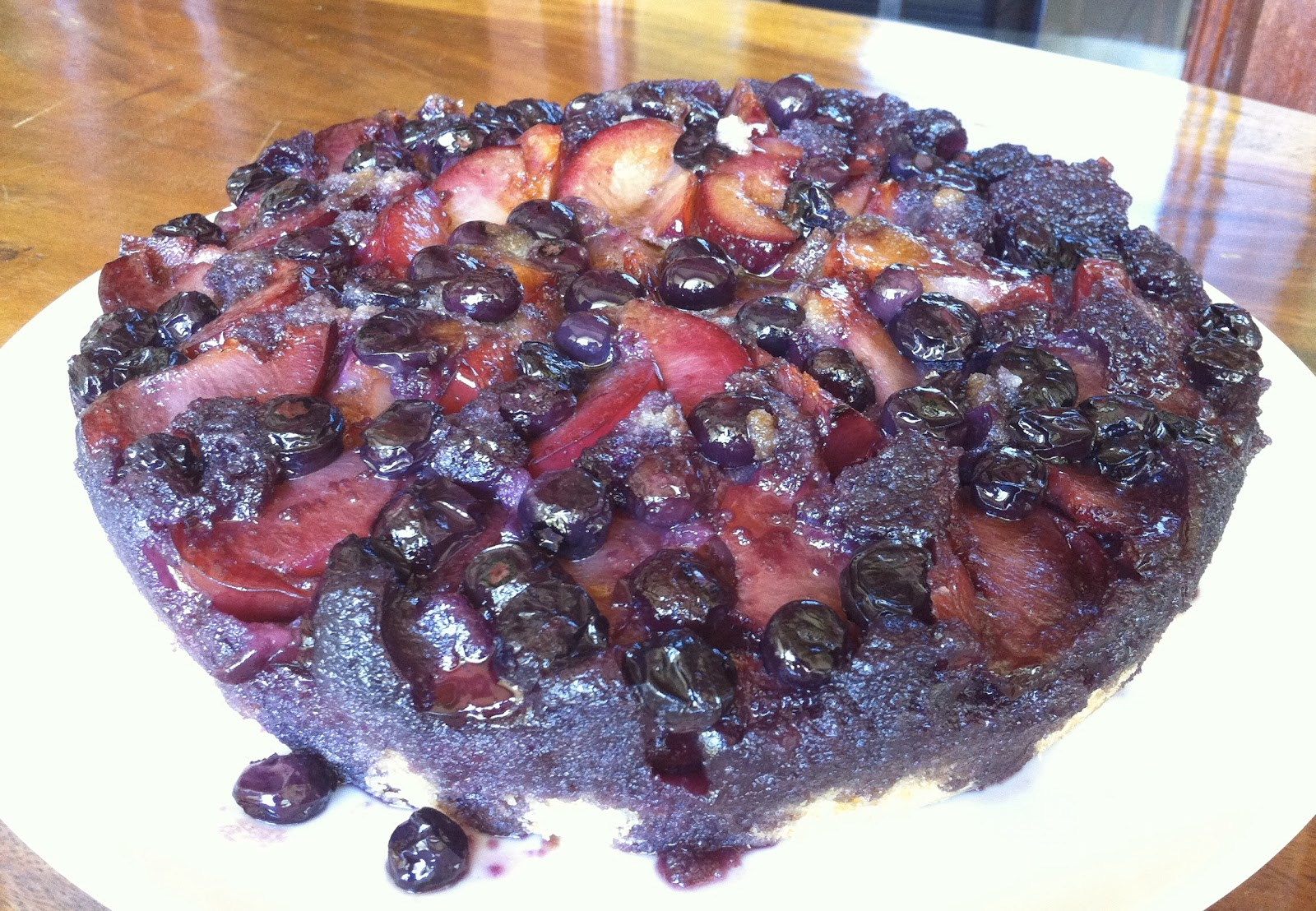 The Kitchen Is My Shrink: Plum-Blueberry Upside Down Cake