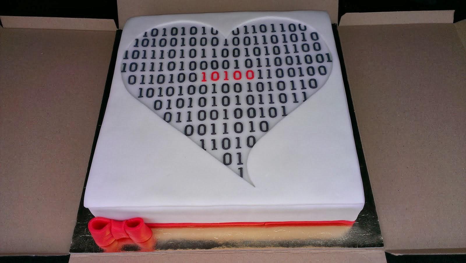 Torta s binárnym kódom