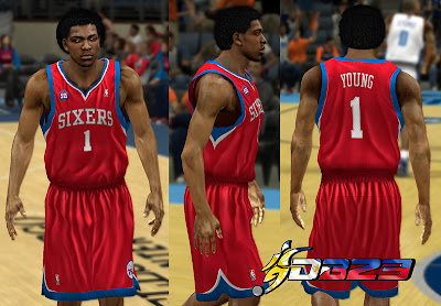 NBA 2K13 Philadelphia 76ers Away Jersey Patch