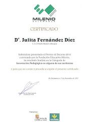 Finalista en el Premio al docente 2010 en Castilla y Len