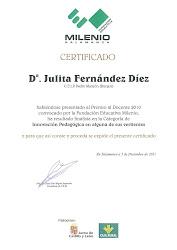 Finalista en el Premio al docente 2010 en Castilla y León