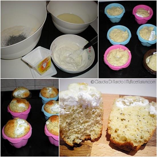 Muffin con cuore cremoso al limoncello