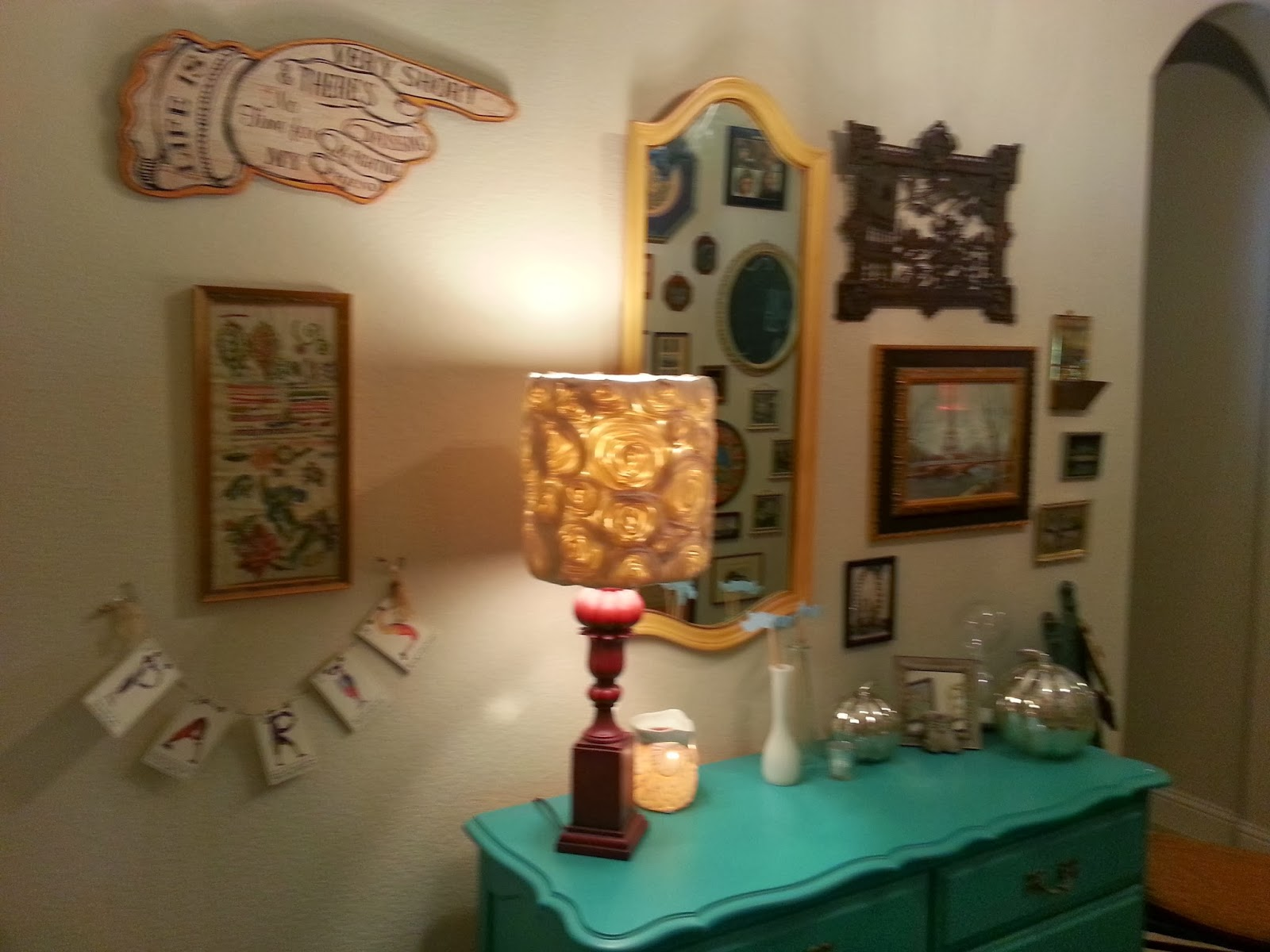 the red chandelier  eclectic vintage home decor
