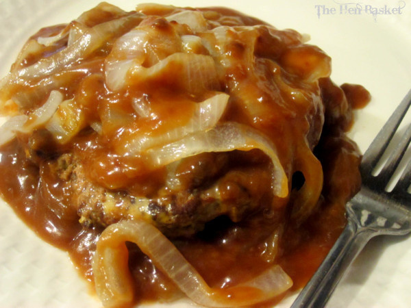 hamburger steak is basically hamburger cooked and served with gravy ...