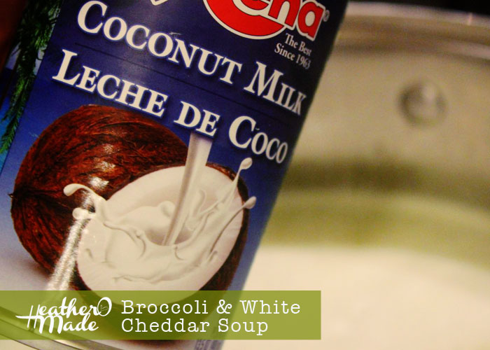 broccoli & white cheddar soup. heatheromade. recipe.