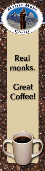 Help the monks! Drink great coffee.