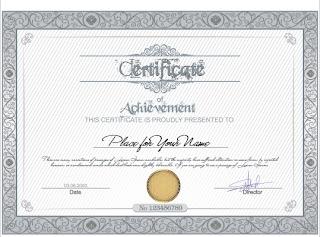 certificado en gris Certificados para imprimir
