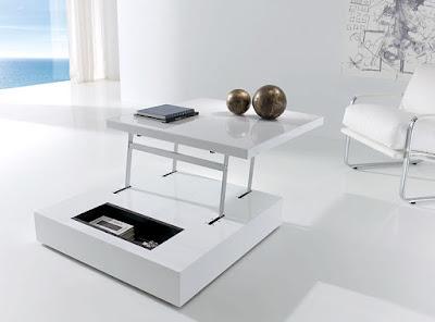 Mesas de comedor por la decoradora experta una mesa de centro y de comedor - Mesas elevables de centro ...