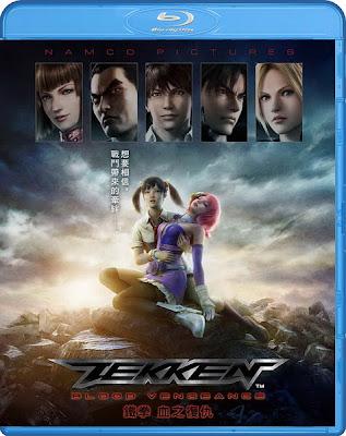 Tekken : Blood Vengeance (2011) BRRip 1.30 GB, tekken blood vengeance, tekken dvd cover, blu ray dvd cover