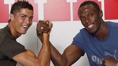Ronaldo quase bate recorde de velocidade de Bolt
