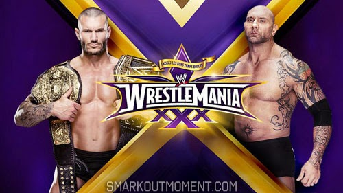 WWE WrestleMania XXX Main Event Randy Orton vs Batista World Heavyweight Championship Match
