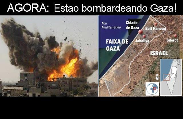Palestina - Israel bombardeia Gaza