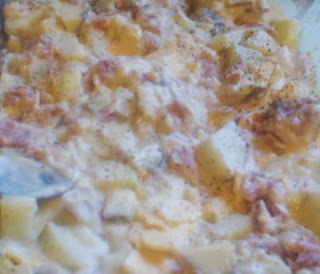 Ham and potato casserole, Cheesy ham & potato casserole, easy casserole recipe