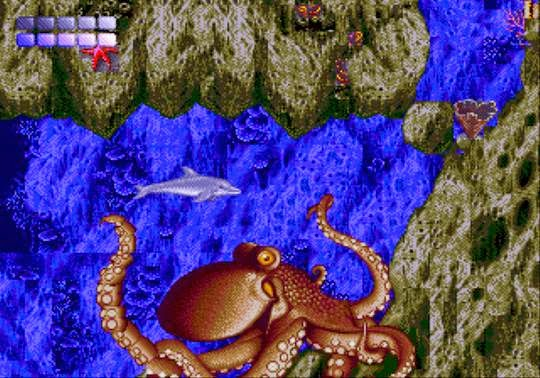 Ecco the dolphin genesis game screenshot octopus