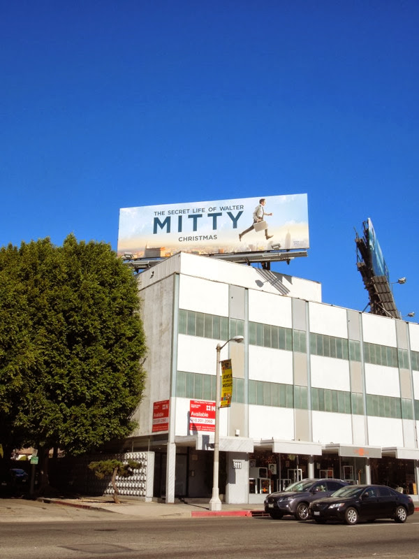 Secret Life Walter Mitty movie billboard