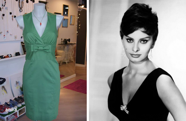 Como combinar un vestido de fiesta verde