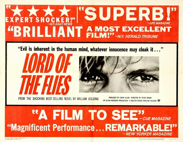 a comparison between the novel and the film version of lord of the flies Peter brooks' big-screen adaptation of william golding's classic lord of the flies adheres  novel shines through, but  be very easy to accuse any film version.