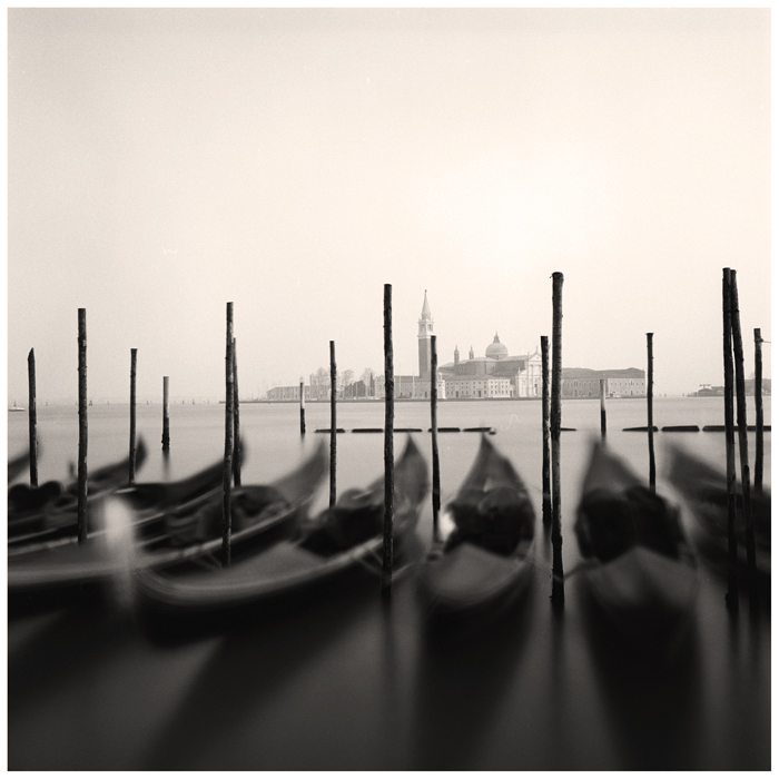 Gondoles et San Giorgio, Venise, 2015
