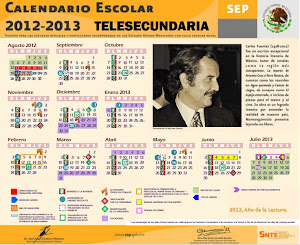 CALENDARIO ESCOLAR TELESECUNDARIAS 2012-2013